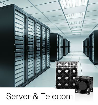 Cooling Fans For Server And Telecom Applications