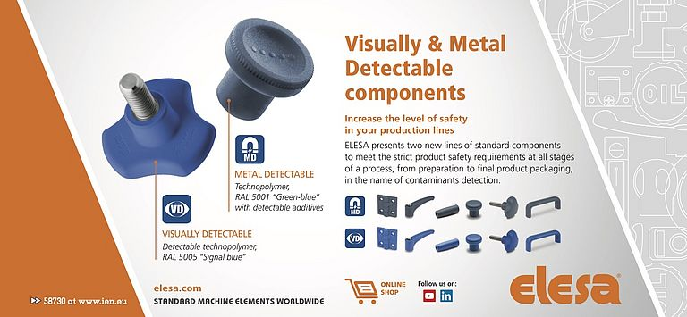 Visually and Metal Detectable Components