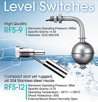 Compact Level Switches with proven reliability