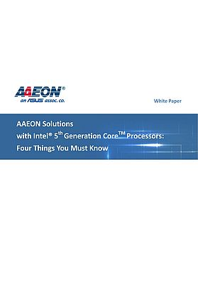 Solutions with Intel® 5th Generation CoreTM Processors