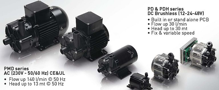 Centrifugal Magnetic Drive Pumps PMD and PD-PDH Series