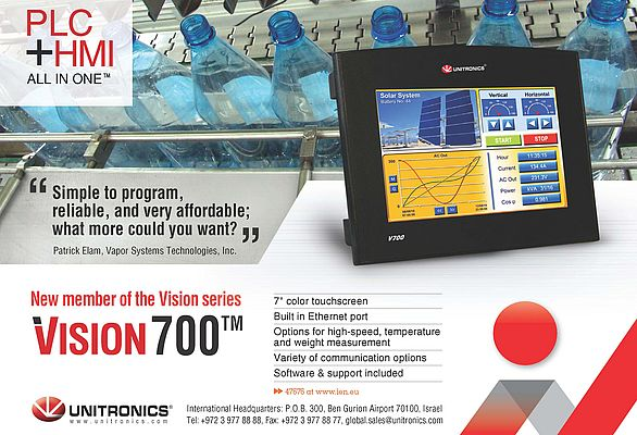 All-in-One PLC+HMI Vision 700