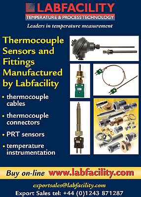 Thermocouple Sensors and Fittings Manufactured by Labfacility