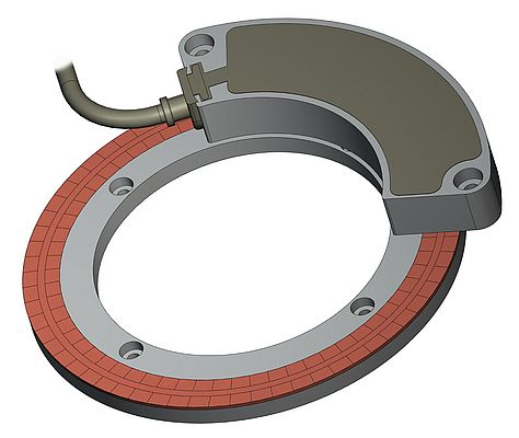 Bearingless Encoder with Flat Ring