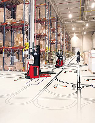Perfect planned with the help of simulations: Transport robotics concepts for materials handling and storage systems