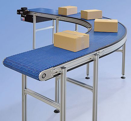 Curved Modular Belt Conveyor