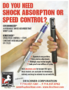 Shock absorption or speed control?