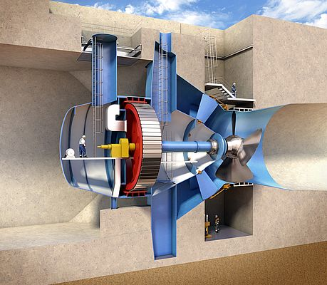Turbine cross section (credit: Andritz Hydro)