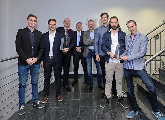 Two winning teams at Innovace 2018