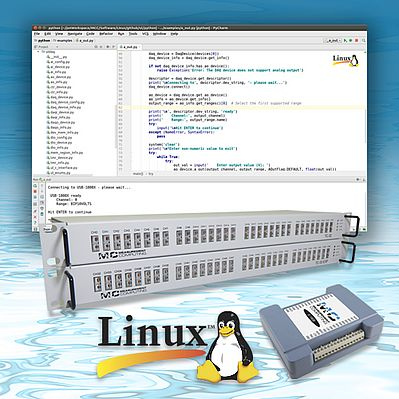 Linux Support for USB- and Ethernet-based DAQ Devices