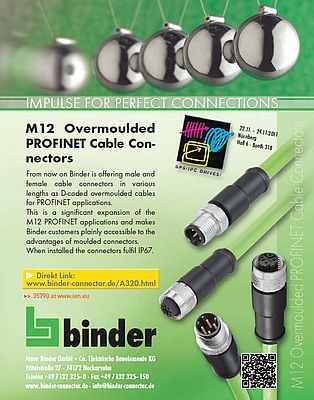 M12 overmoulded Profinet cable connectors