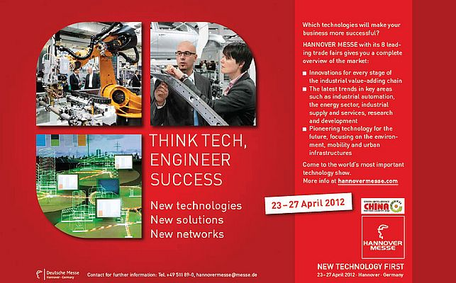 Hannover Messe  23 - 27 April 2012