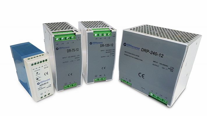 DIN Rail Power Supply Units DR (P) and MDR Series