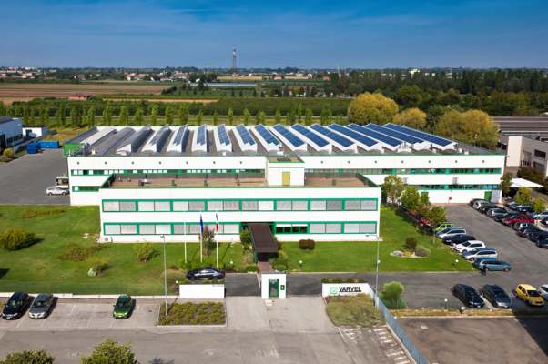 Varvel plant in Crespellano, Italy with photovoltaic panels