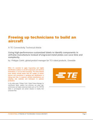 Freeing up technicians to build an aircraft