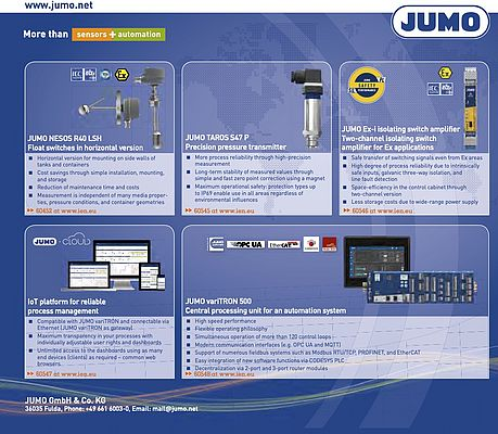 JUMO variTRON 500 Central Processing Unit for an Automation System