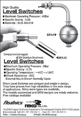 Level switches RFS-9 & RFS-12