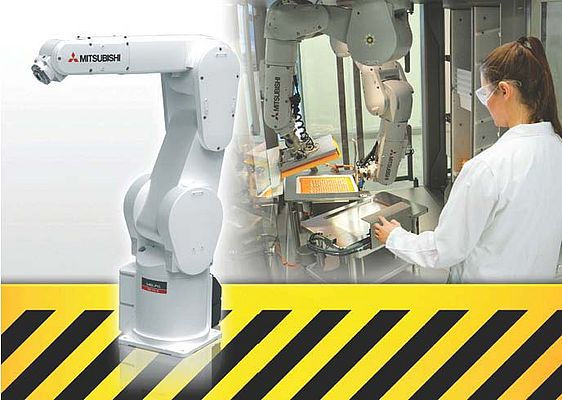 """MELFA SafePlus"" Enables Robots and Humans Work Together in Harmony"