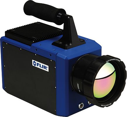 The highly sensitive Flir SC7750L thermal imaging camera