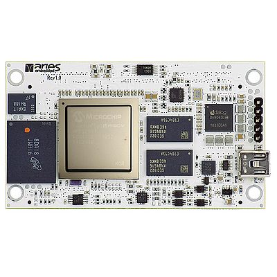 System-on-Module M100PFS based on Microchip's PolarFire SoC FPGA