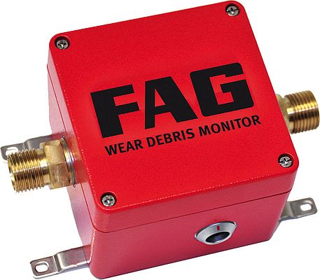 One example of an online condition monitoring product is the FAG Wear Debris Monitor, which detects gear damage at an early stage.