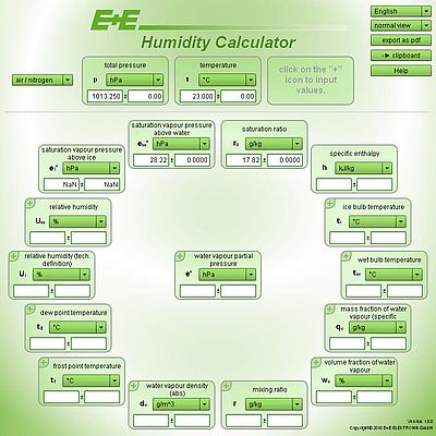 Online Humidity Calculator