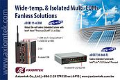 Wide-temperature and isolated Multi-COMs Fanless Solutions