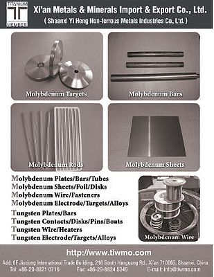 Molybdenum and tungsten products