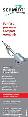 Flow sensors for air and gases
