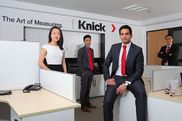 Souliman Amarouche, managing director at Knick Electronic Measurement Trading Co., Ltd., and his team in their new offices