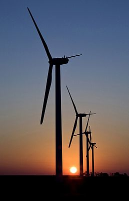 Wind power is gaining popularity as an alternative to fossil fuels.