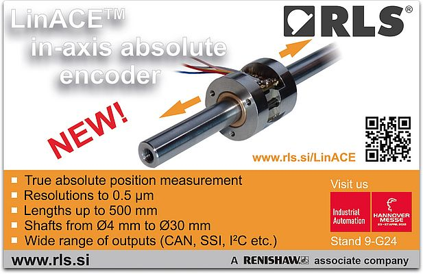 LinACE in-axis absolute encoder