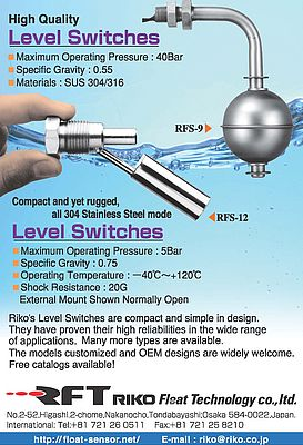 Compact and rugged level switches