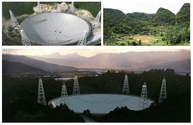 Upon its completion the FAST radio telescope will be the largest in the world