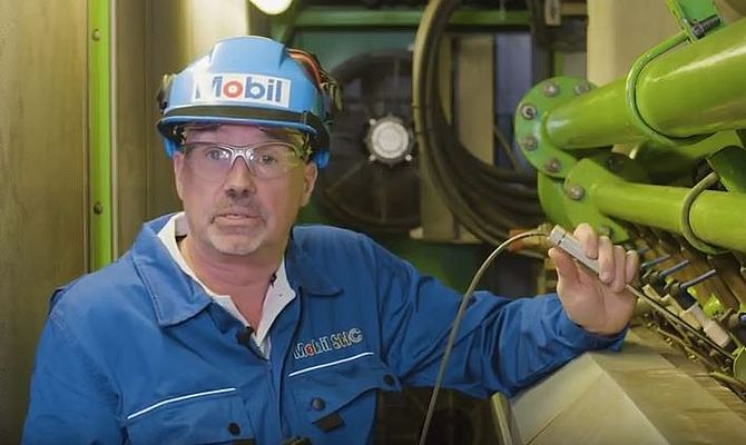 Gas engine operator extends oil drain intervals with Mobil Pegasus 605 Ultra 40