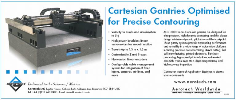Cartesian gantries