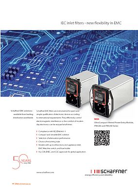 IEC inlet filters - new flexibility in EMC