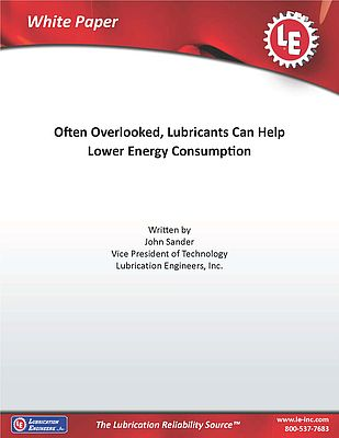 Often Overlooked, Lubricants Can Help Lower Energy Consumption