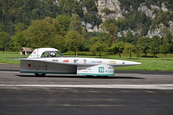 Solar-powered vehicle tested in the Alps before desert race