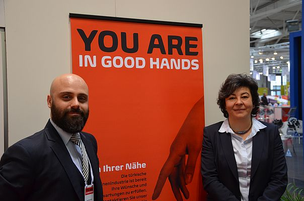 Sevda Kayhan Yilmaz (right), and Ferdi Murat Gül are both Members of the Board of the Turkish Machinery Exporters Union.