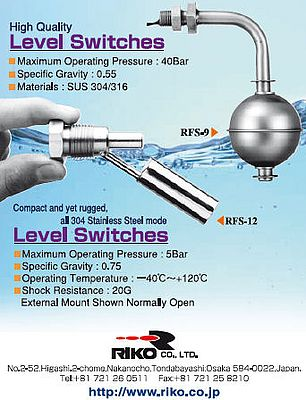 High quality level switches RFS9, RFS-12