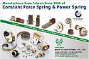 Constant force spring & power spring