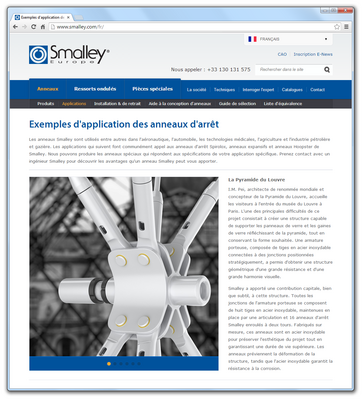 Smalley Website Now Also in French
