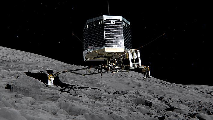 Touchdown of the Philae lander
