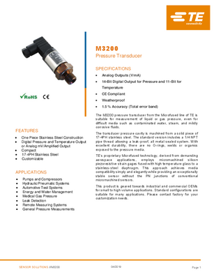 Compact Pressure Transducer