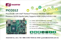 Axiomtek's PICO312 – Pico-ITX SBC with Intel® latest Apollo Lake SoC