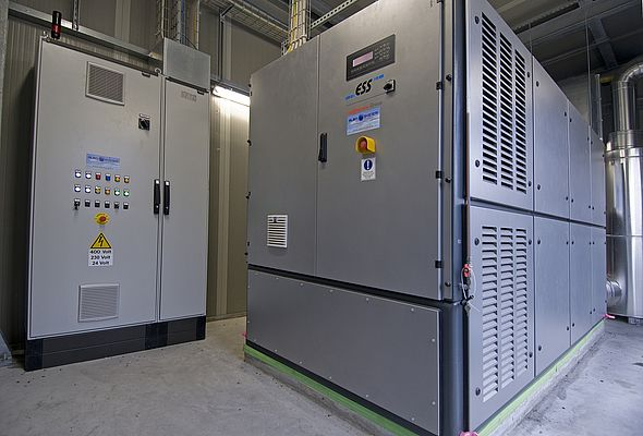 CAR 234 electric kW cogenerators and PLC control interface.