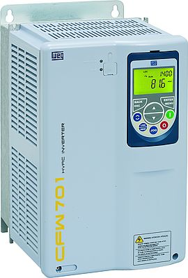 Frequency inverter with manual/automatic override