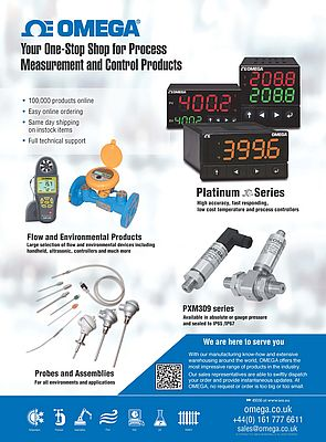 Flow, temperature and process control devices from Omega