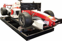 Servo motors drive F1 racing simulator